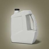 plastic canister for motor oil 3d render on gradient background