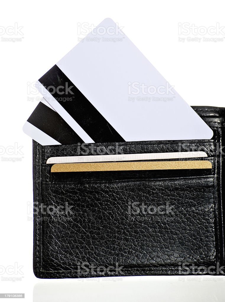 Plastic cards in your wallet royalty-free stock photo