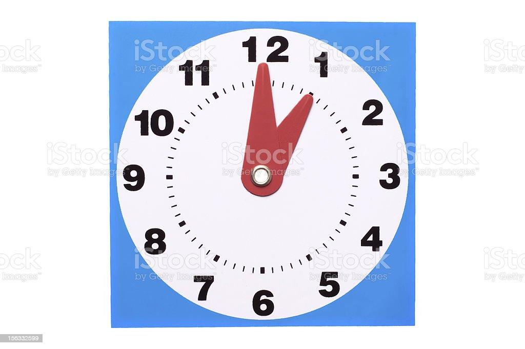 Plastic Clock royalty-free stock photo