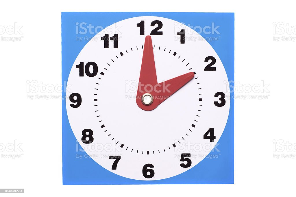 Plastic Clock stock photo