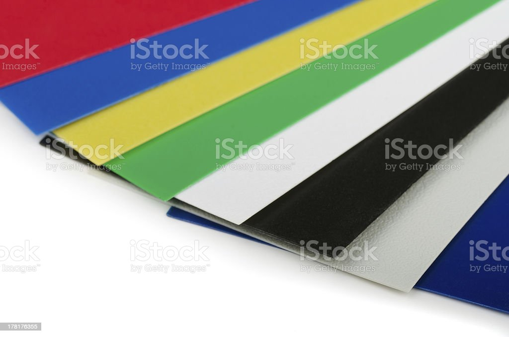 Plastic color swatch stock photo