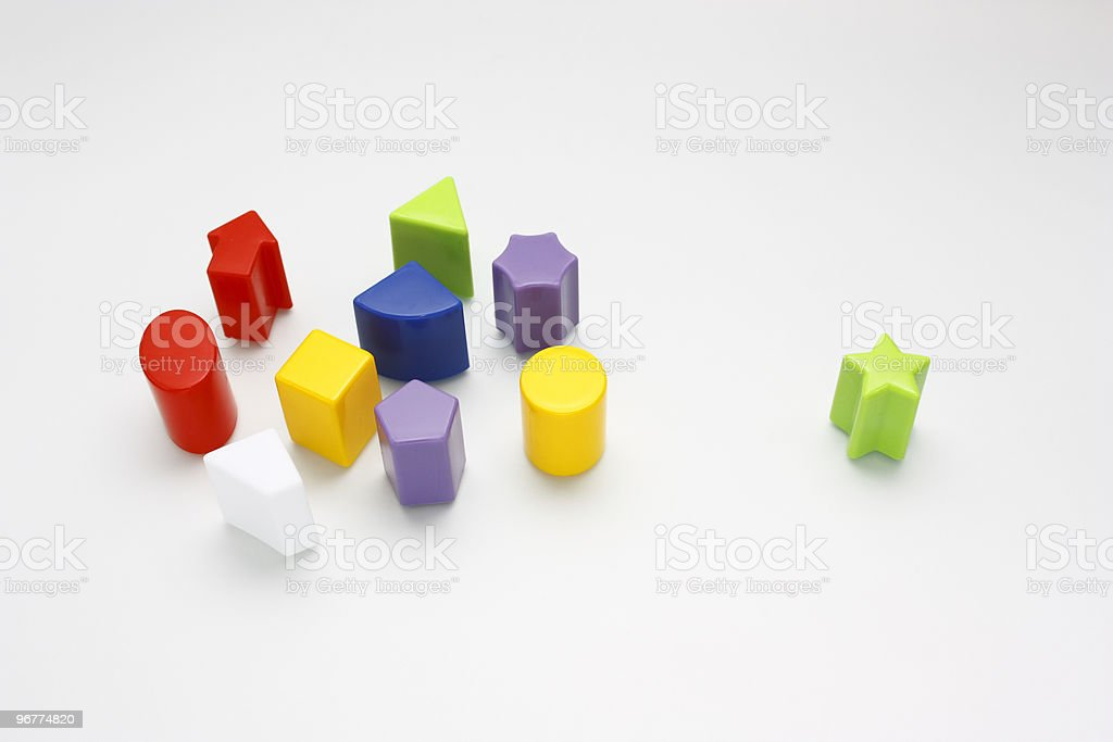 Plastic Colored Shapes royalty-free stock photo