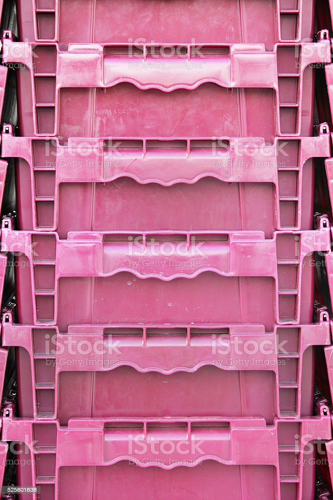 Plastic Container Crate Bins stock photo