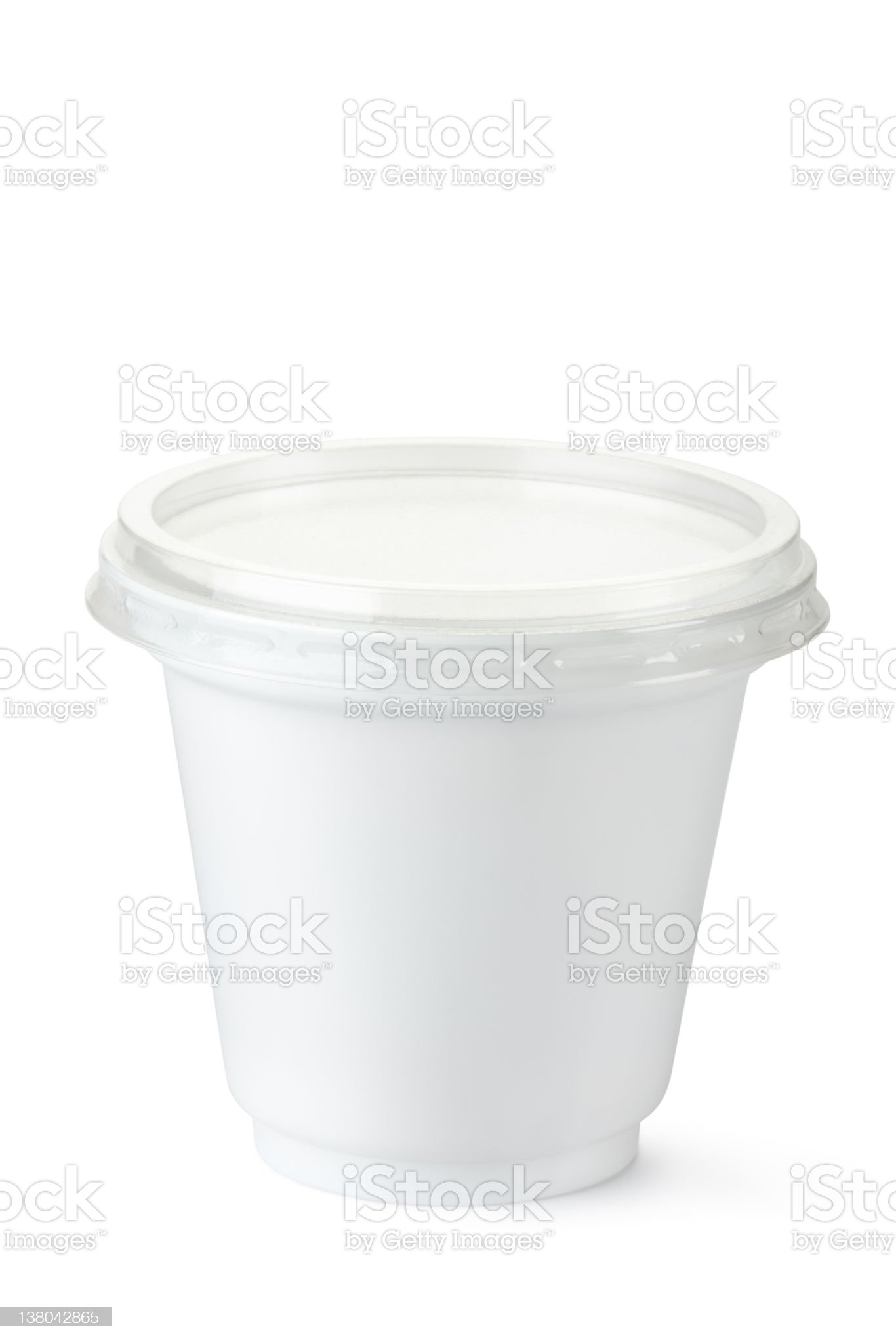 Plastic container for dairy foods royalty-free stock photo