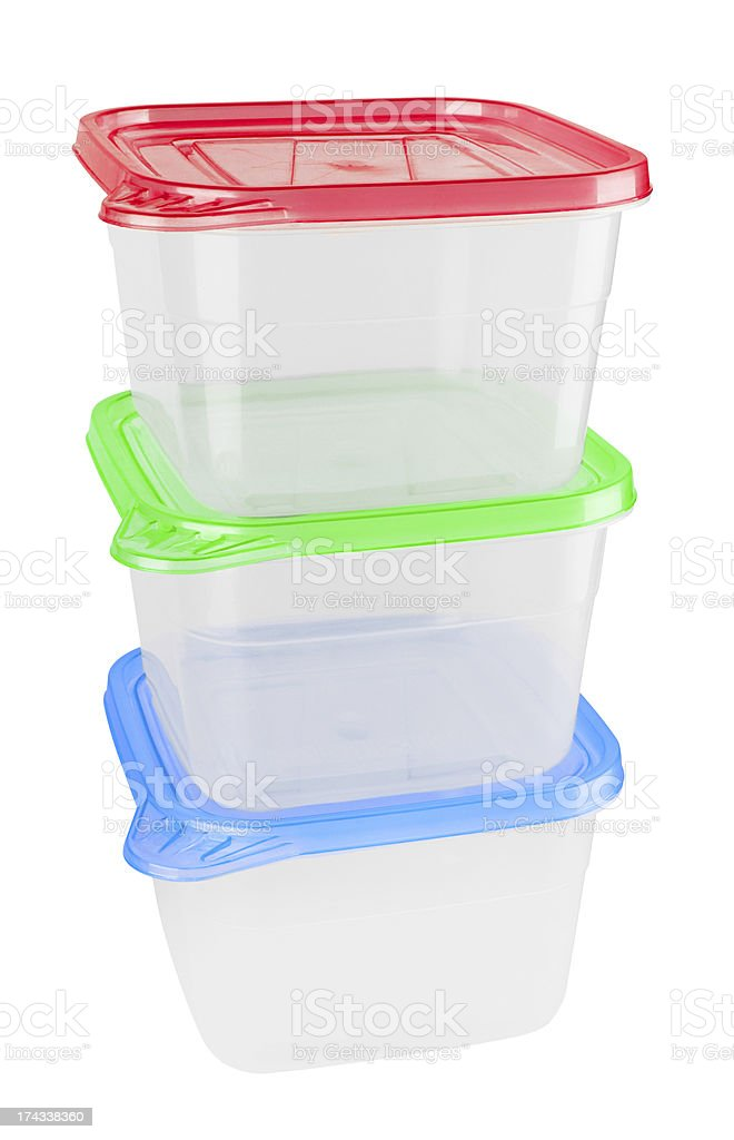 Plastic container for food royalty-free stock photo