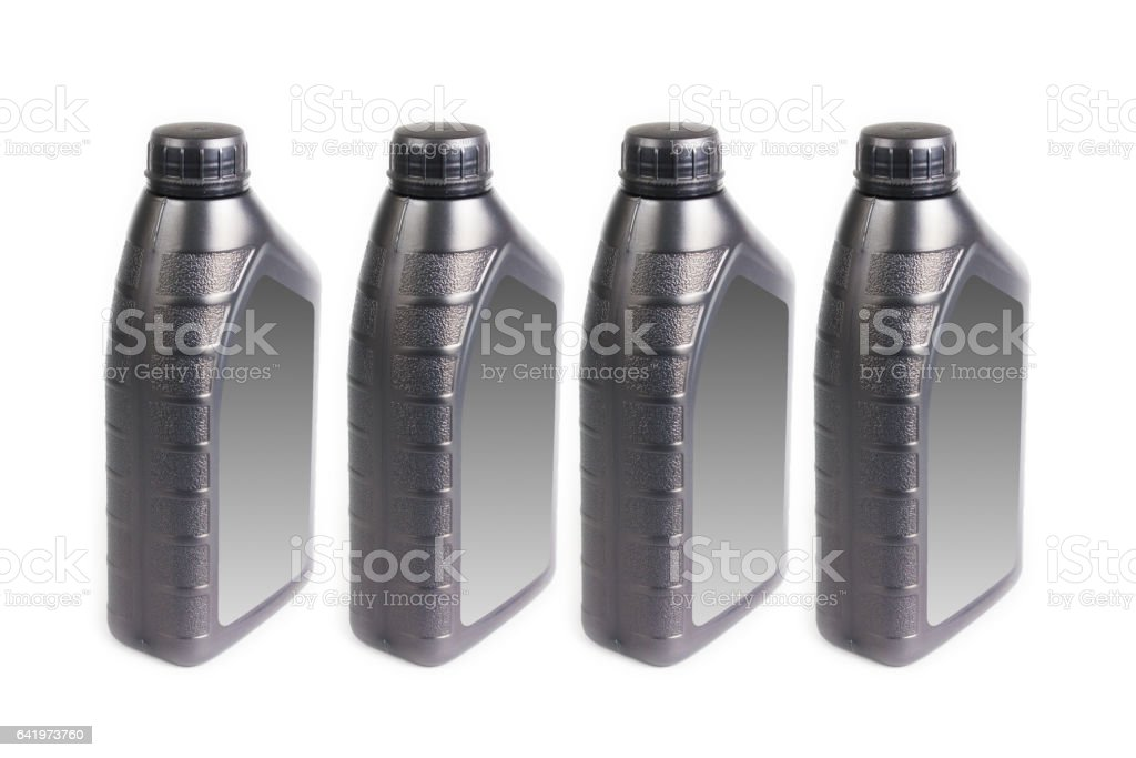 Plastic container on white background stock photo