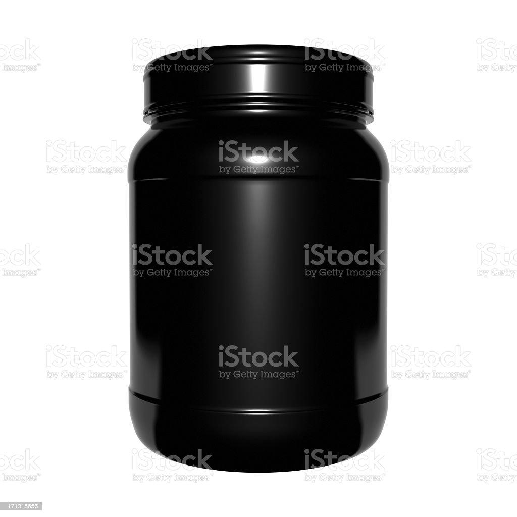 3D plastic container stock photo