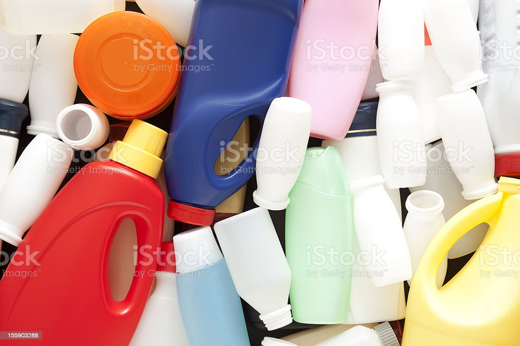 Plastic containers royalty-free stock photo