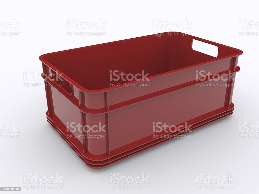Plastic crate stock photo
