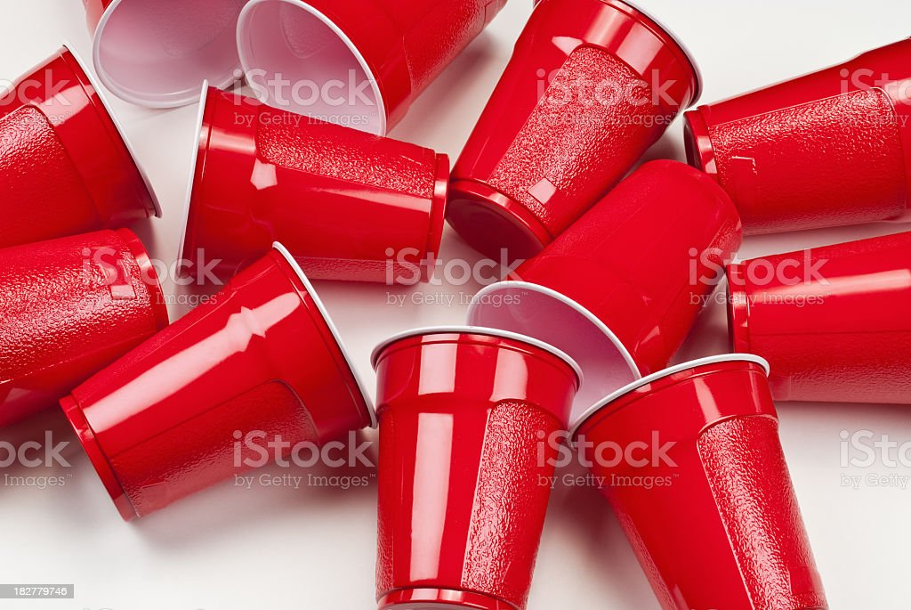 Plastic cups royalty-free stock photo