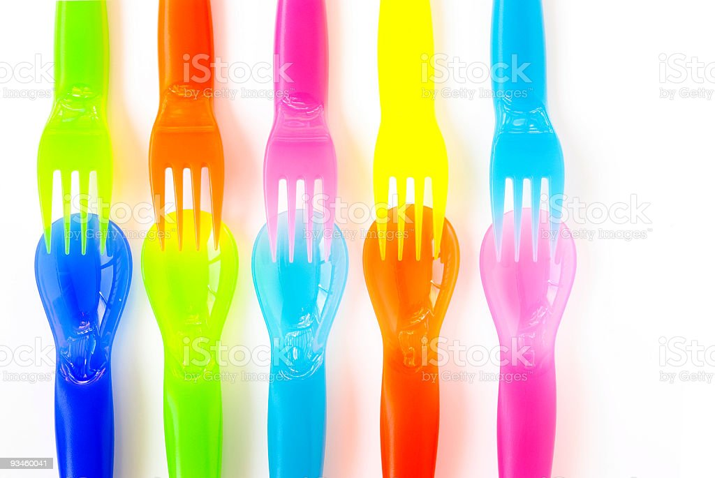 Plastic Cutlery royalty-free stock photo