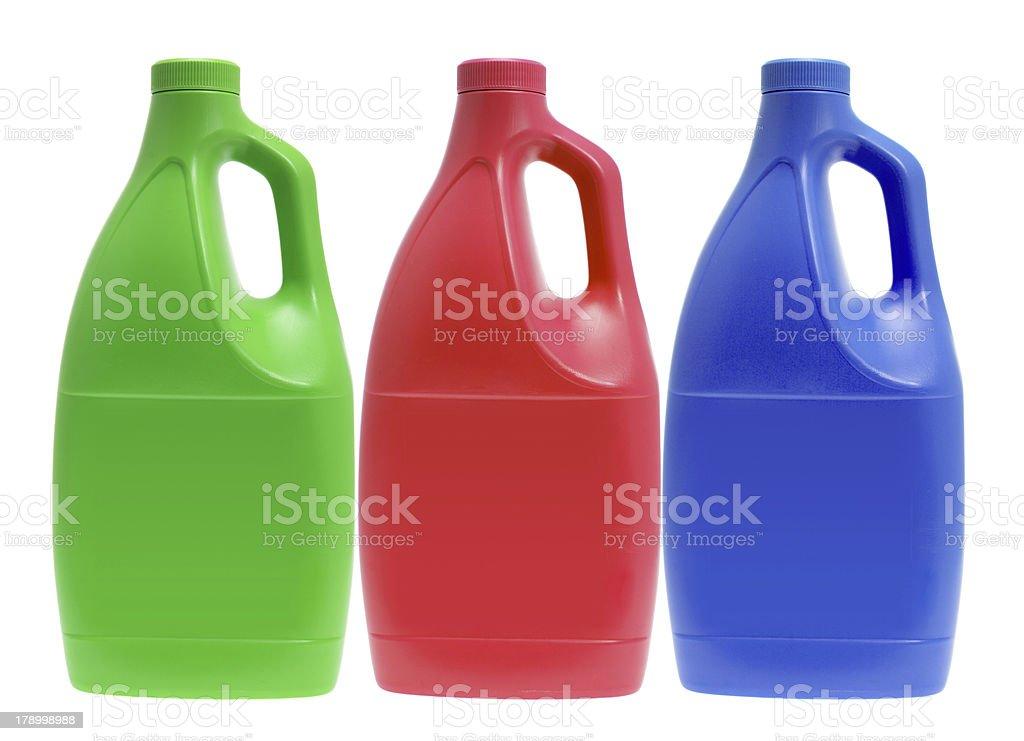 Plastic Detergent Bottles royalty-free stock photo