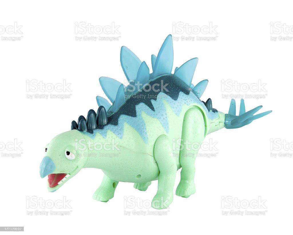 Plastic dinosaur toy. royalty-free stock photo