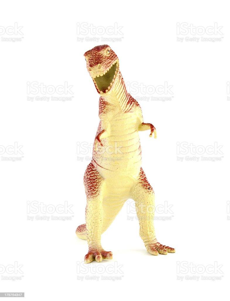 Plastic dinosaurs royalty-free stock photo