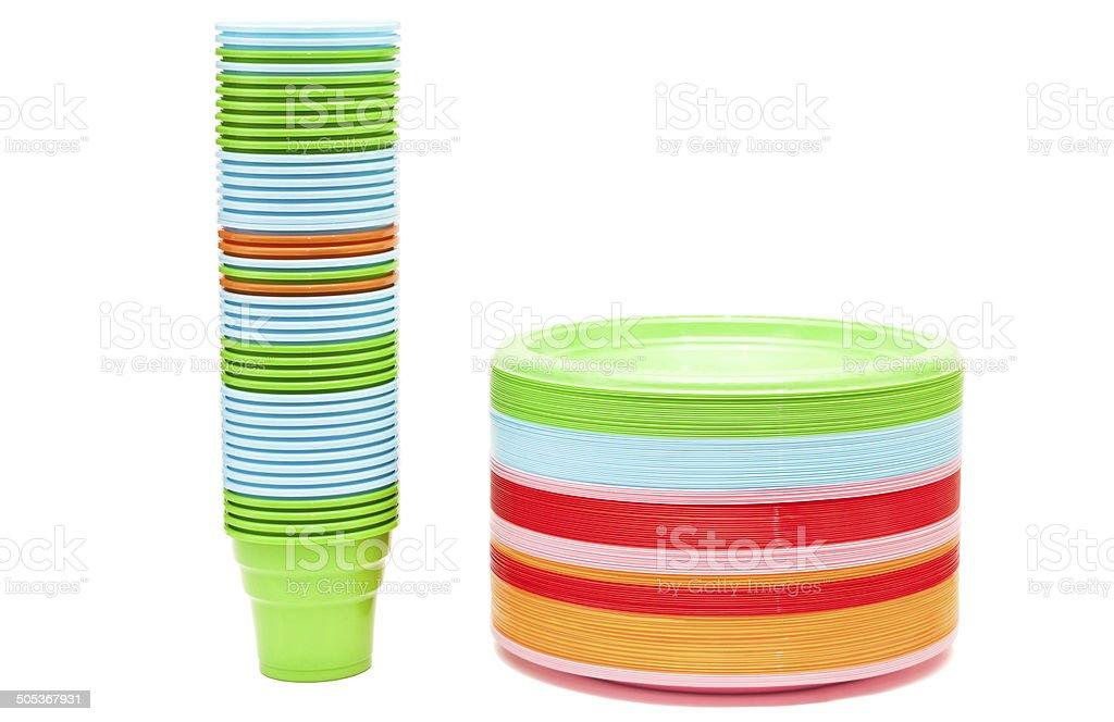 Plastic Dishware royalty-free stock photo