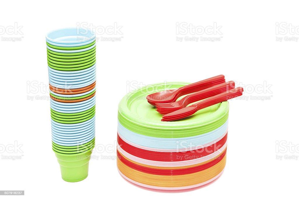 Plastic Dishware stock photo