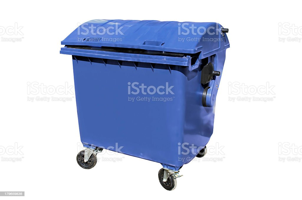 Plastic disposal container royalty-free stock photo