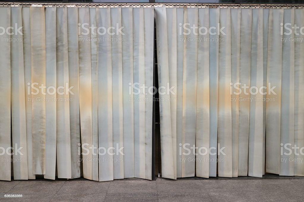 Plastic Door Curtain Strips Stock Photo