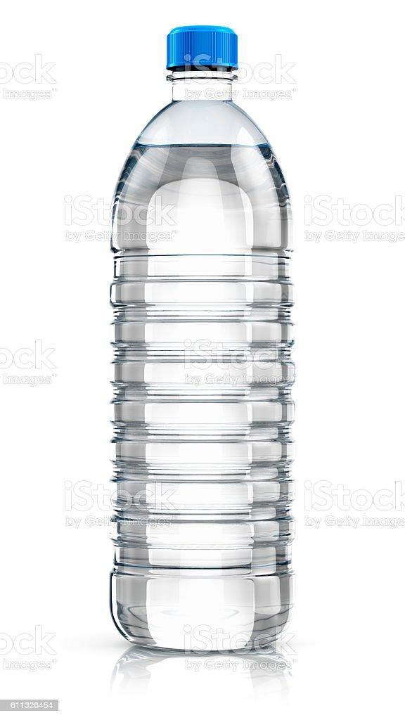 Plastic drink water bottle stock photo