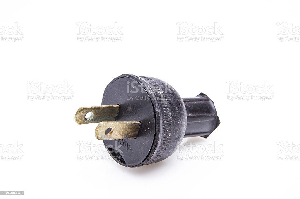 plastic electric plug , energy concept royalty-free stock photo