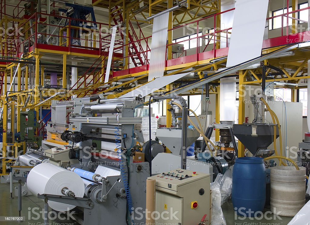 Plastic factory royalty-free stock photo