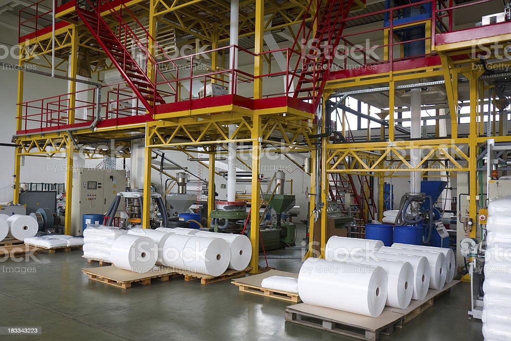 Plastic factory stock photo