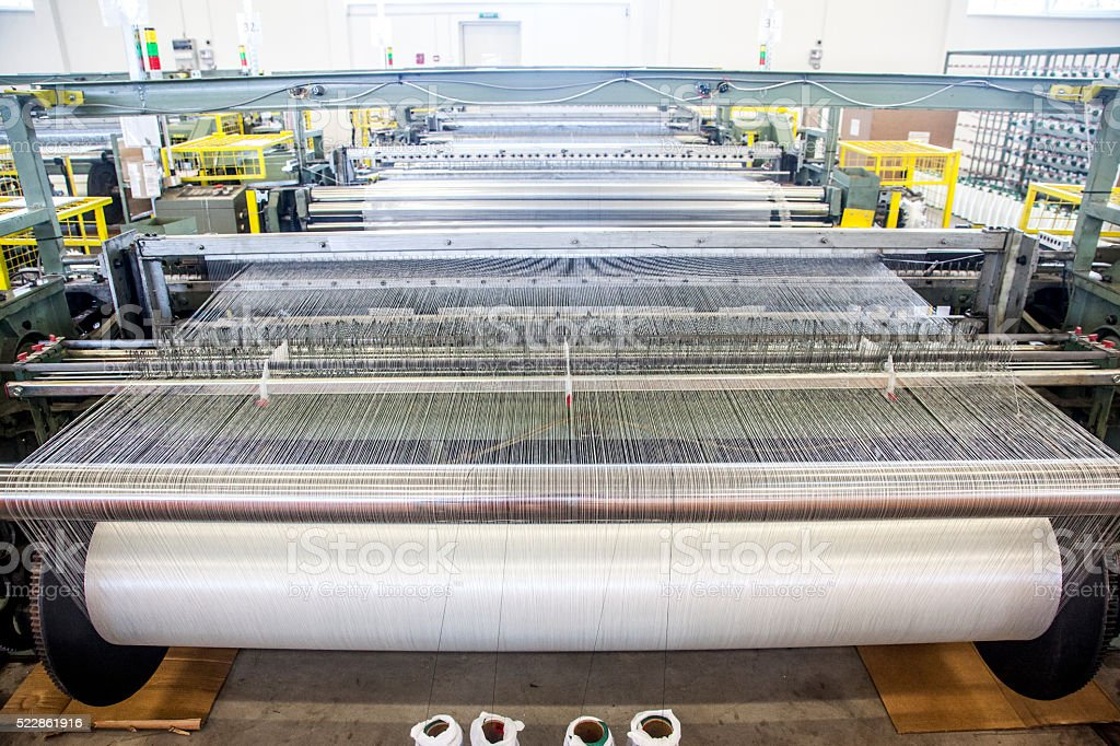 Plastic factory stock photo