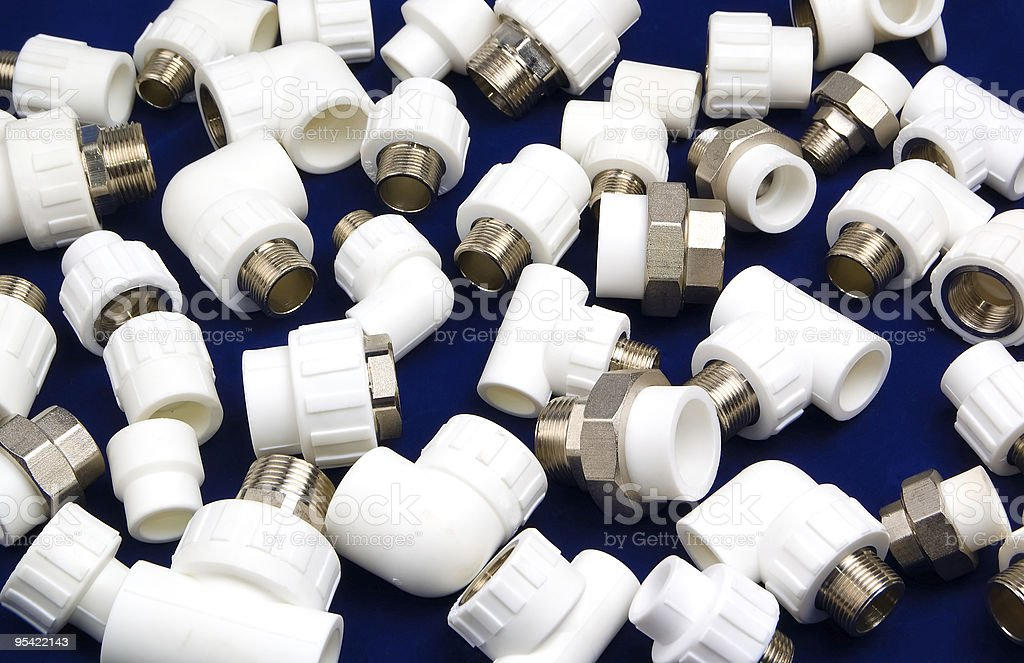 plastic fittings royalty-free stock photo