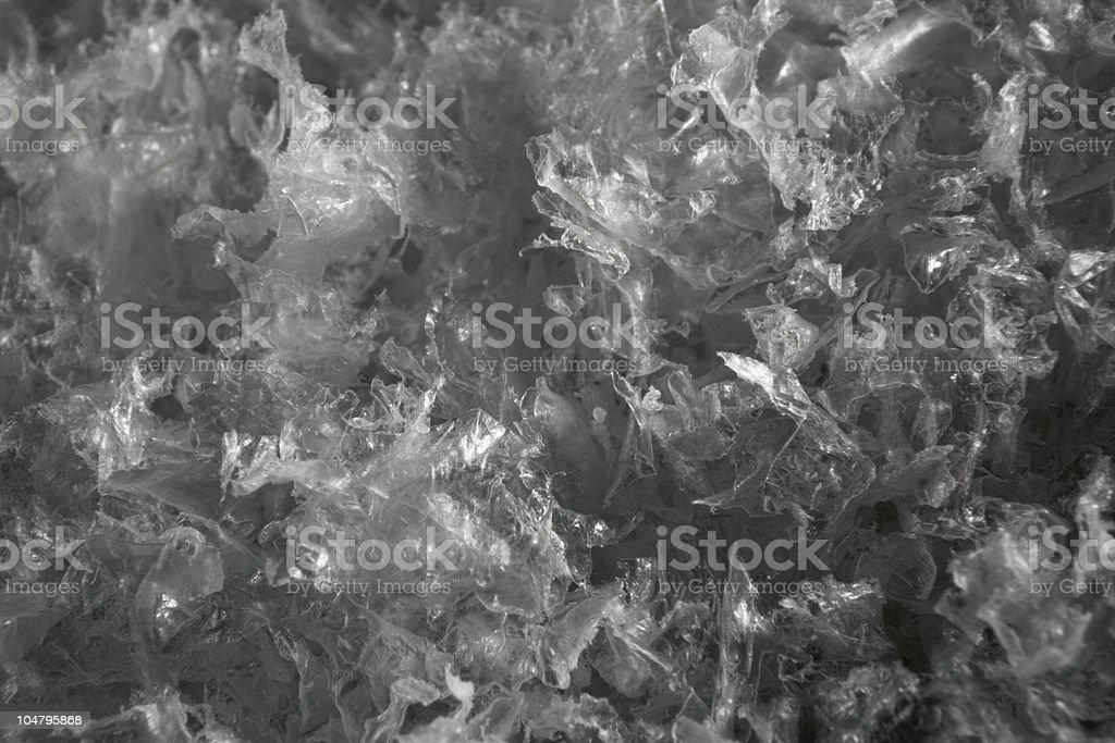 plastic flakes background stock photo