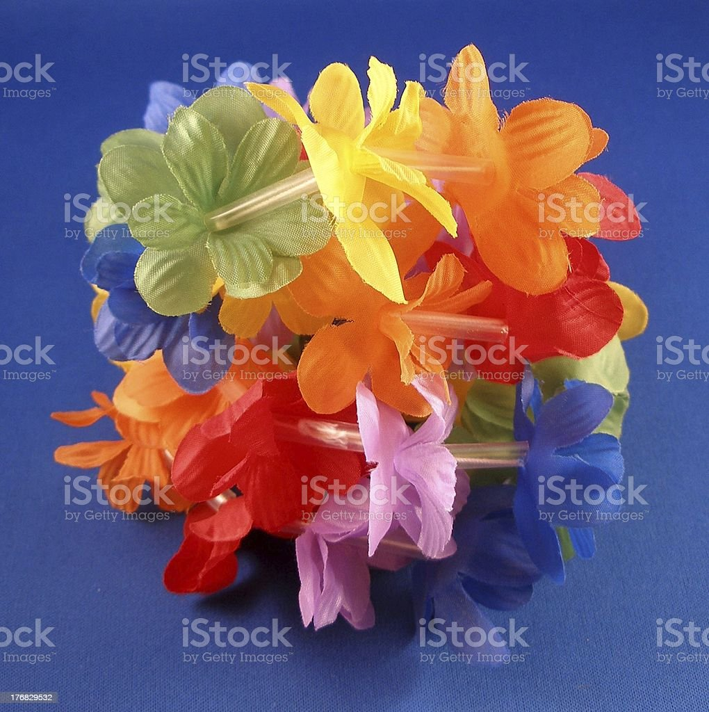 Plastic Flower Lei stock photo