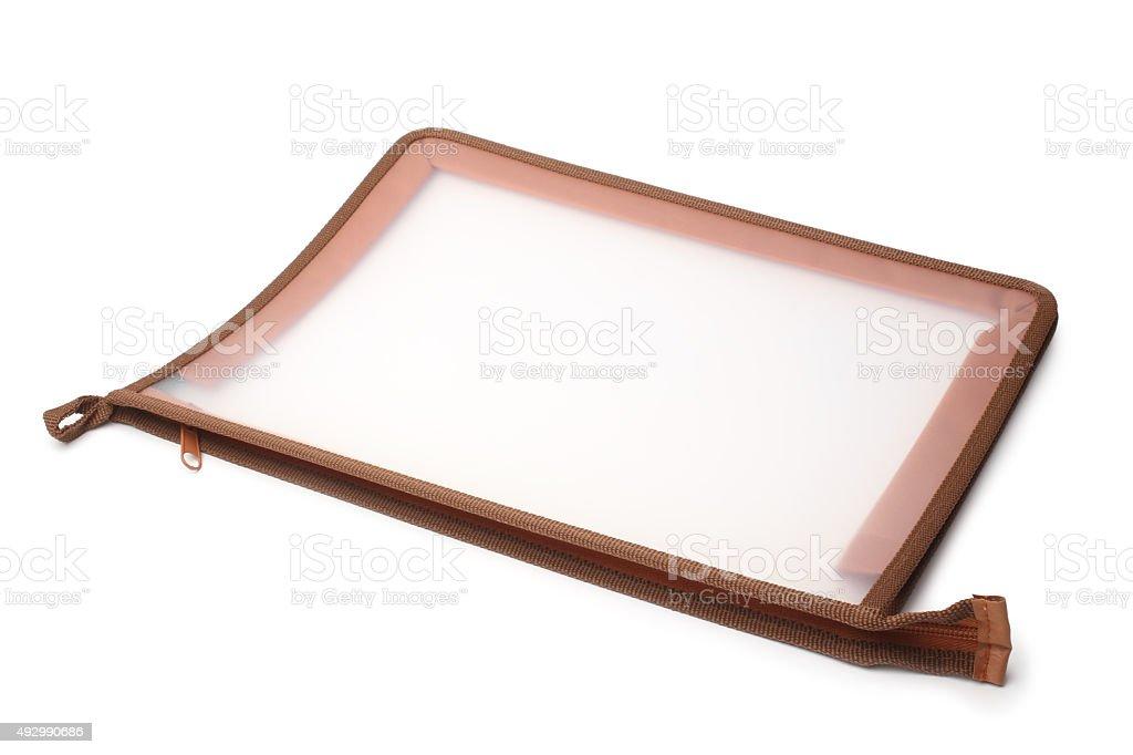 Plastic folder stock photo