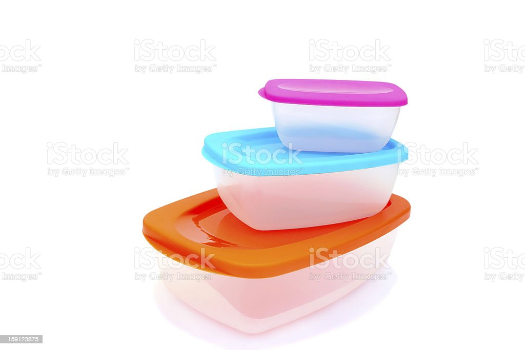 Plastic food container royalty-free stock photo