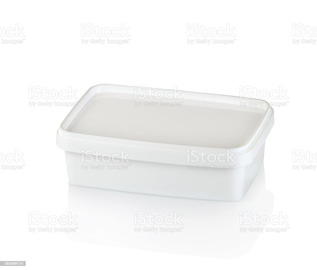 plastic food containers stock photo