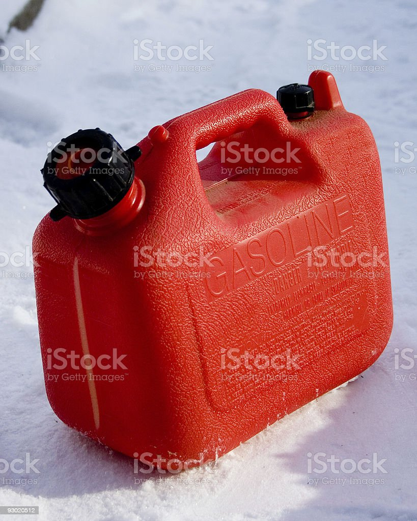 Plastic Gas Can stock photo