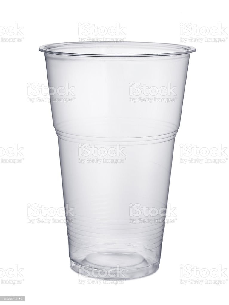 Plastic glass stock photo