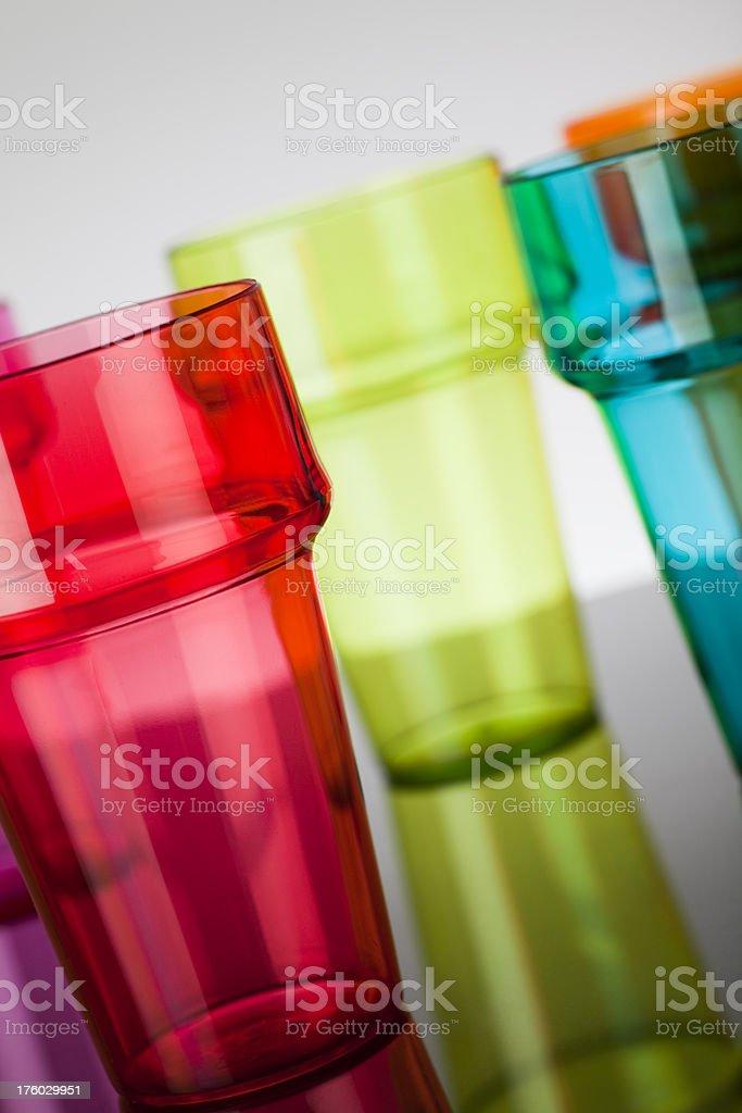Plastic glasses royalty-free stock photo
