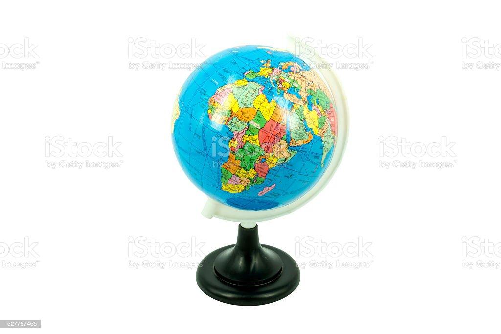 Kunststoff Globus-Modell Isoliert Lizenzfreies stock-foto