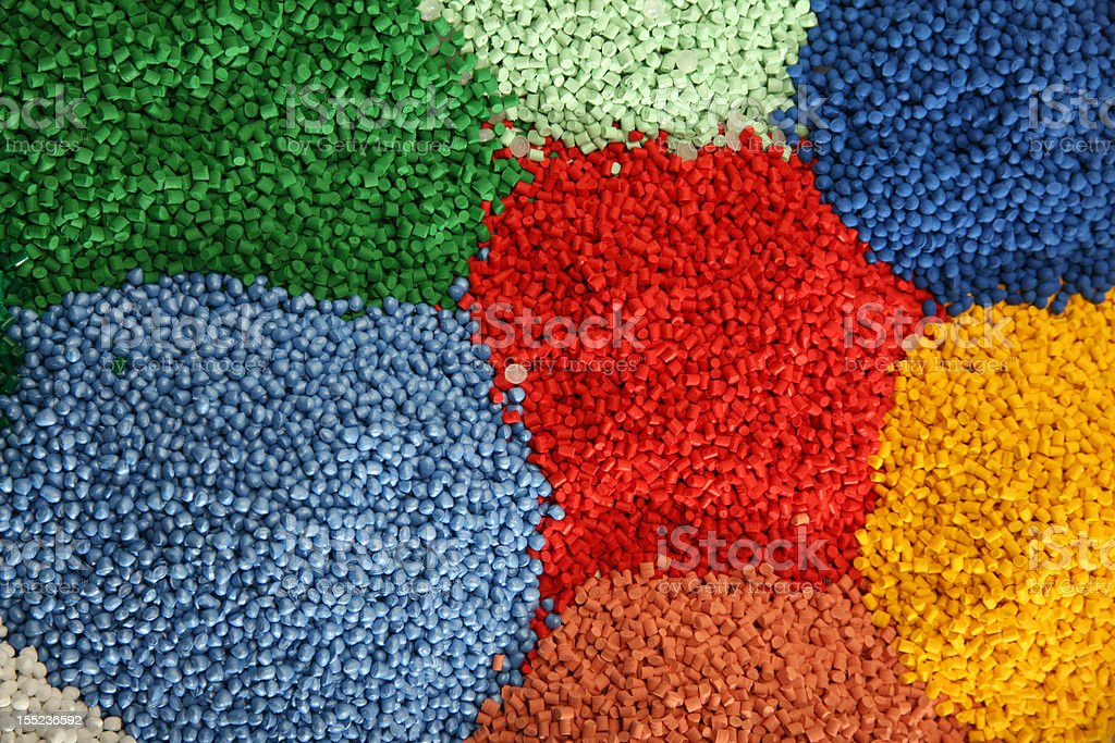 Plastic grains colored royalty-free stock photo