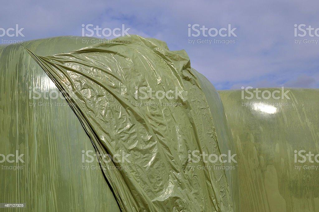 プラスチック干し草ベイルズます。 ロイヤリティフリーストックフォト