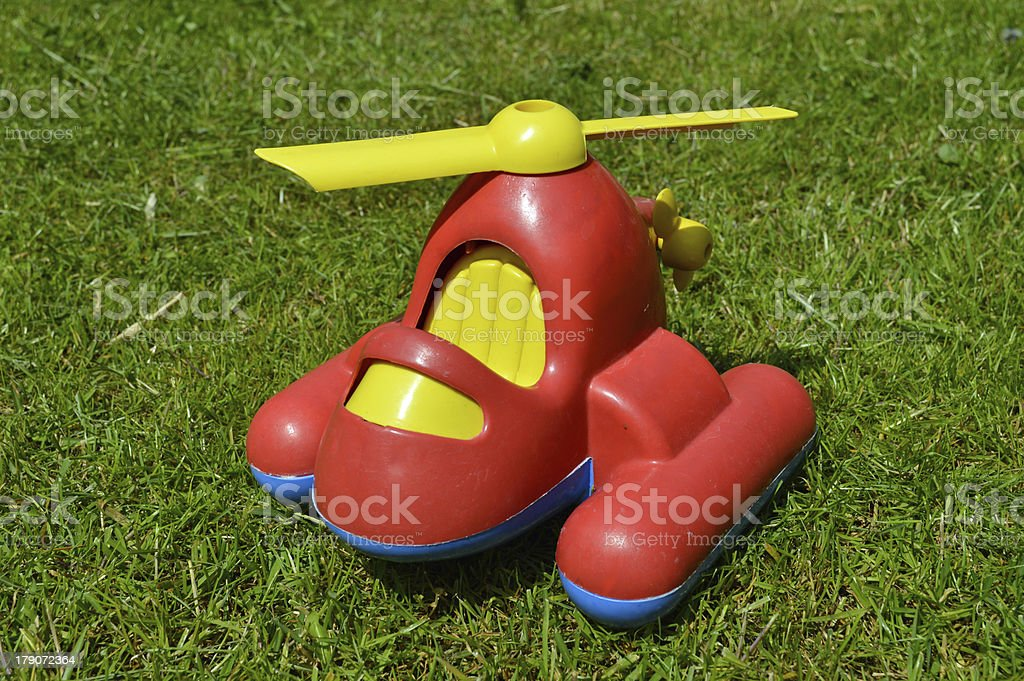 Plastic Helicopter stock photo