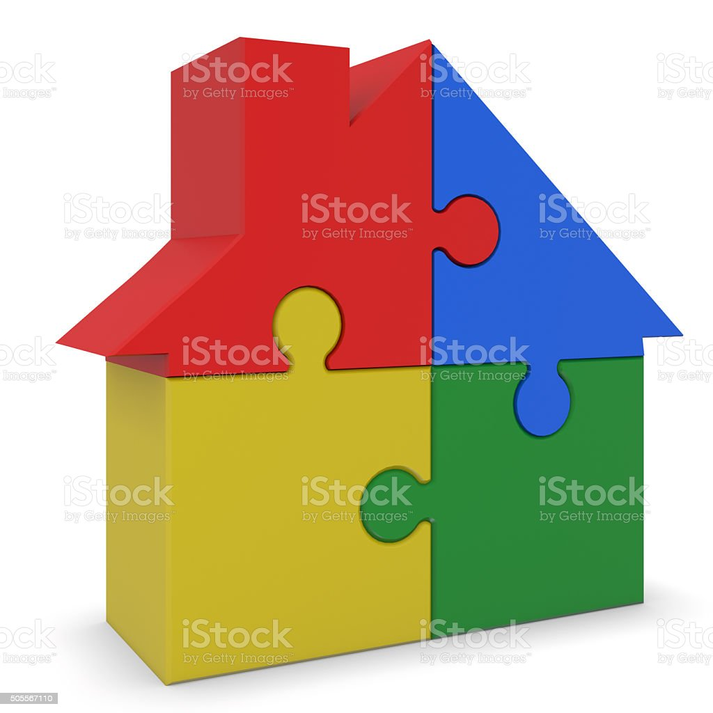 Plastic  house stock photo