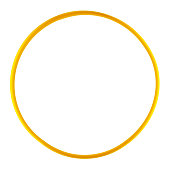 Plastic hula hoop isolated against a white background