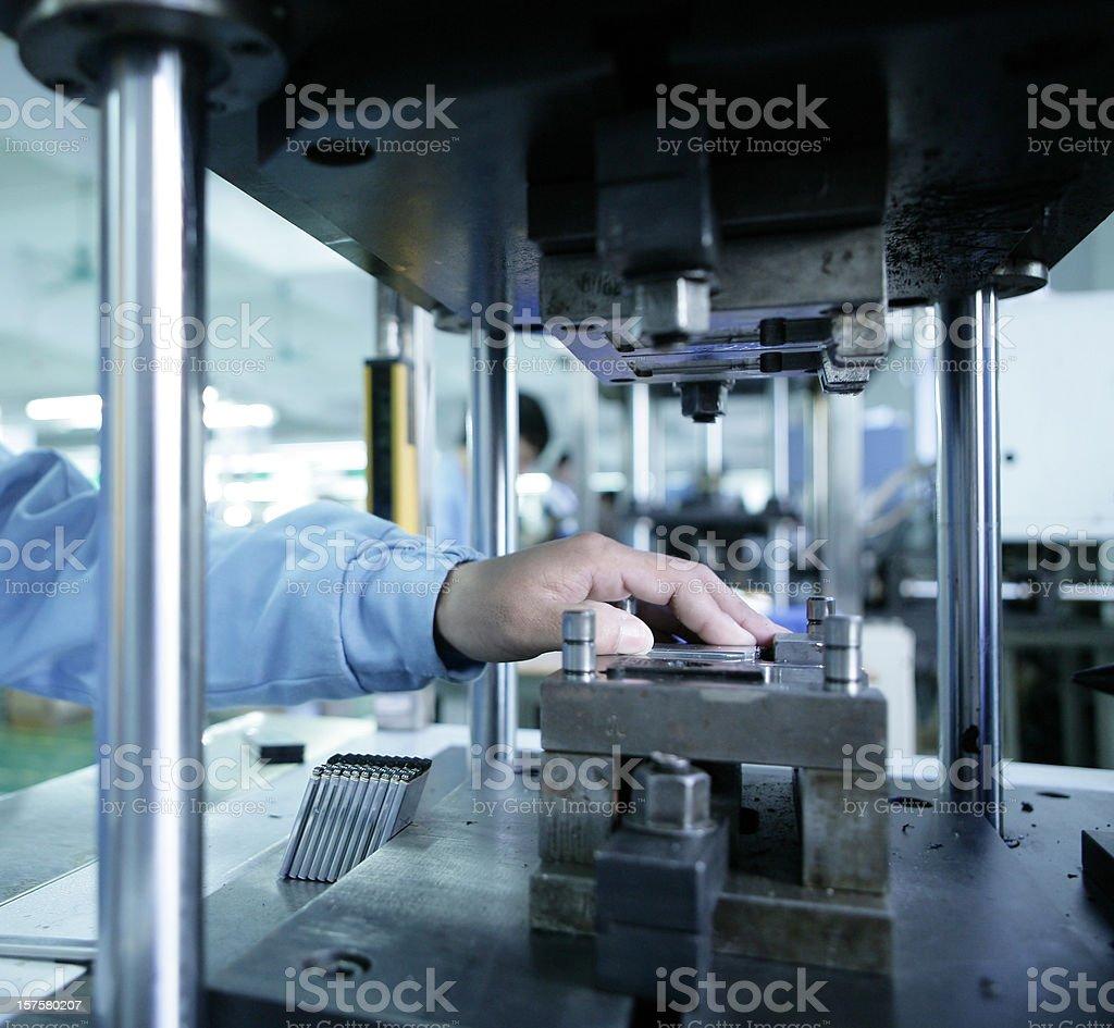 Plastic injection tooling machine stock photo