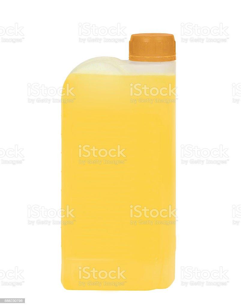 plastic jerrycan isolated stock photo