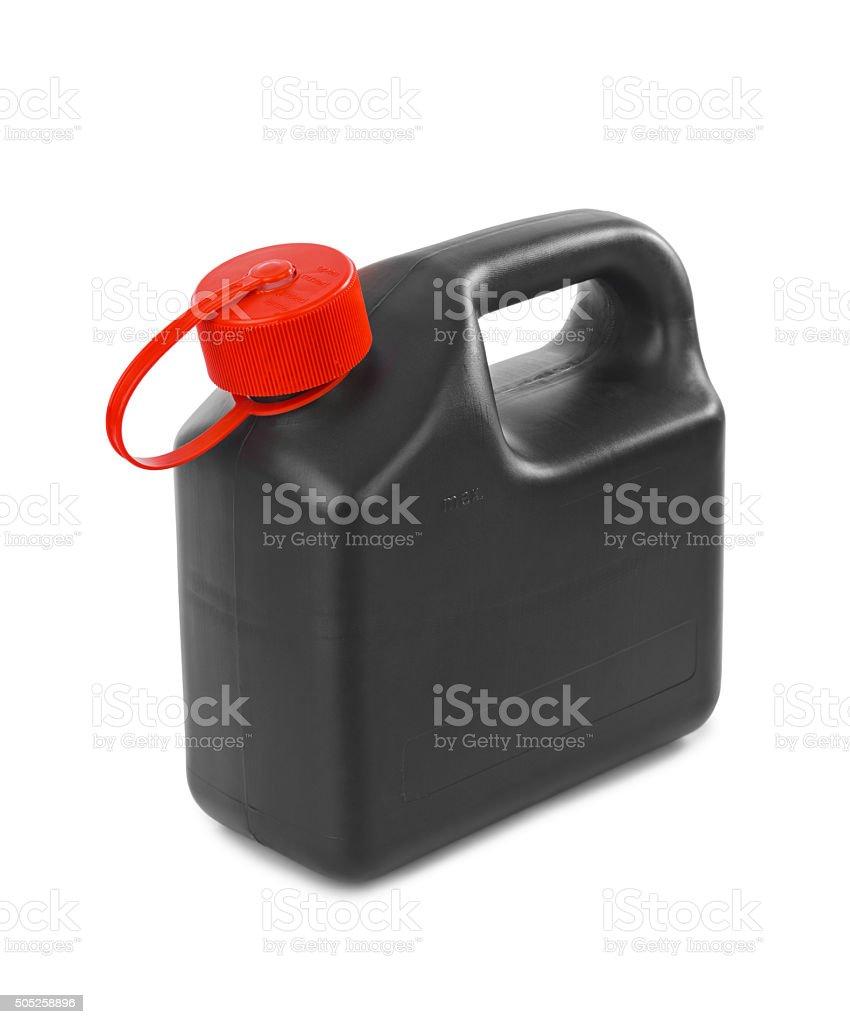 Plastic jerrycan stock photo
