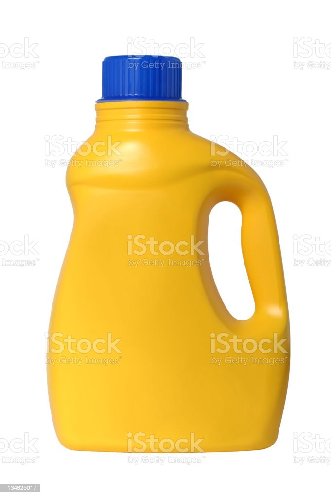 Plastic Laundry Detergent Bottle Isolated on White Background royalty-free stock photo