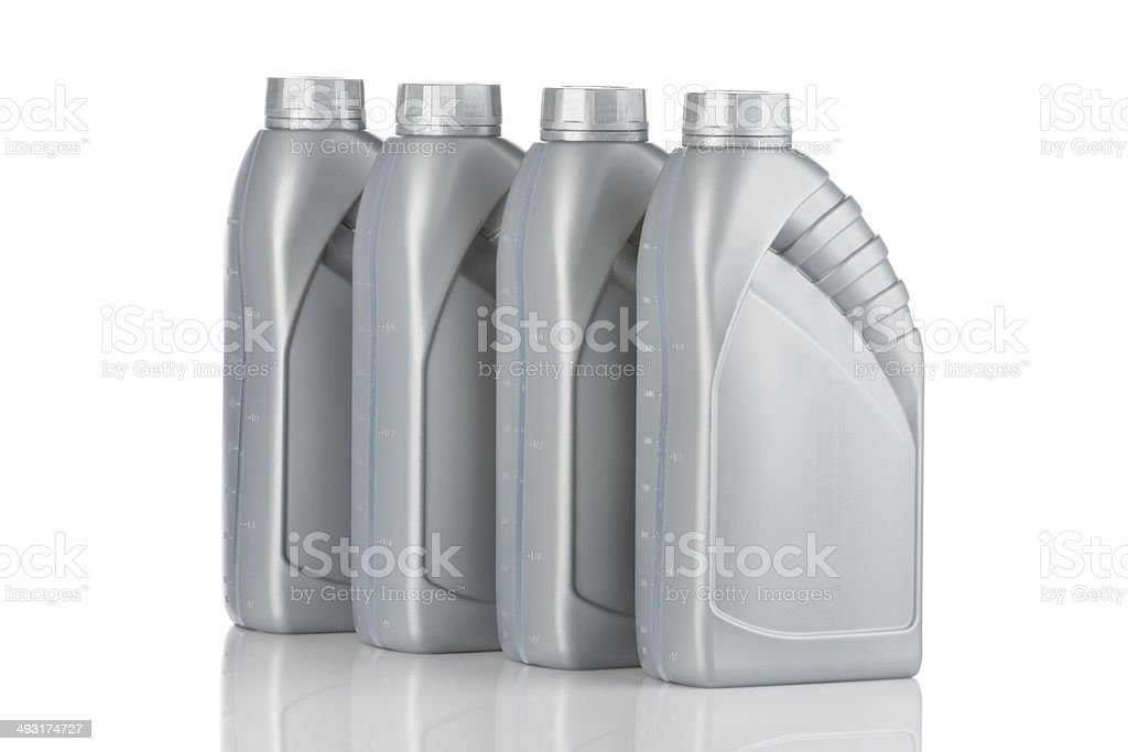 Plastic Lubricant Canister stock photo