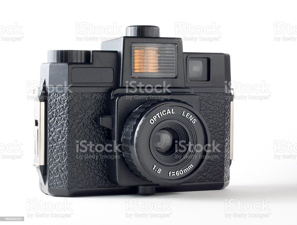 Plastic medium 120 film format toy camera stock photo