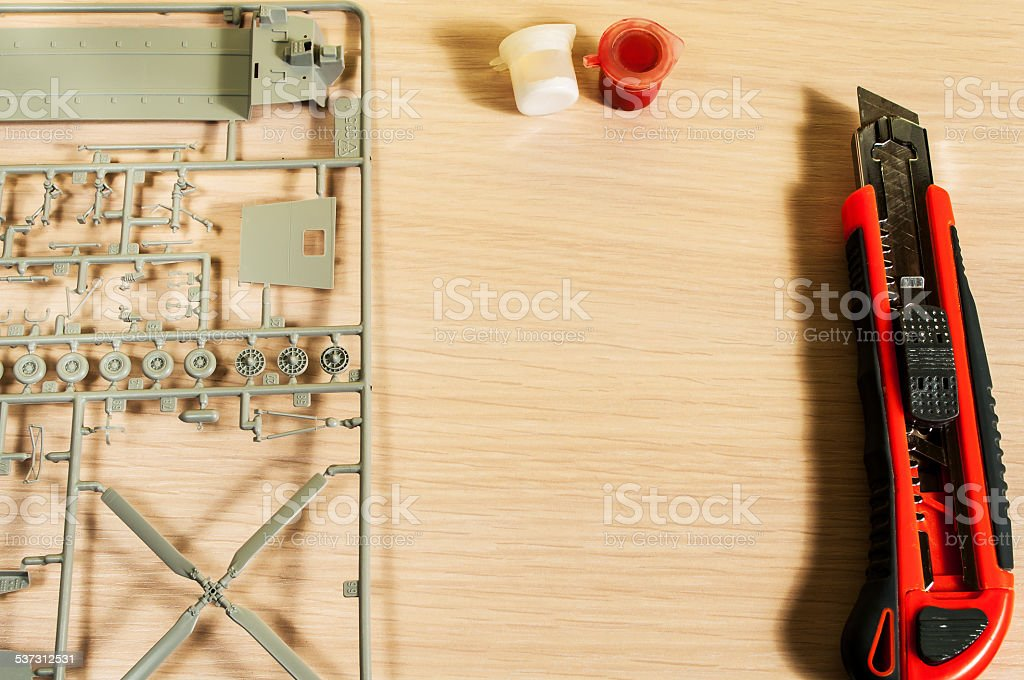 Plastic Model Kit stock photo