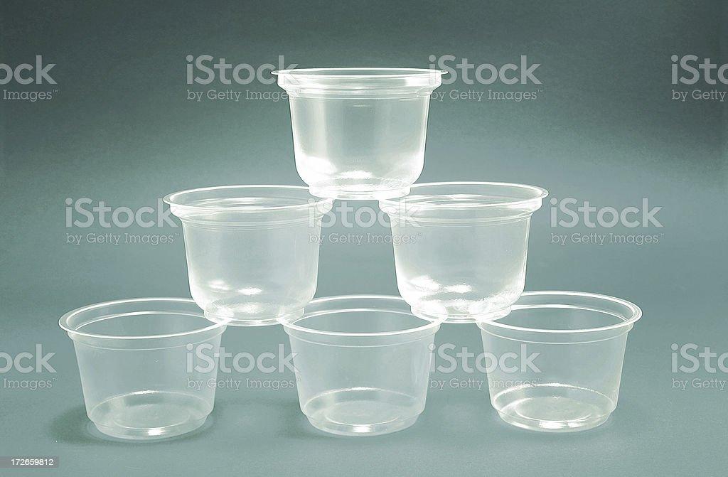 Plastic mugs pyramid royalty-free stock photo